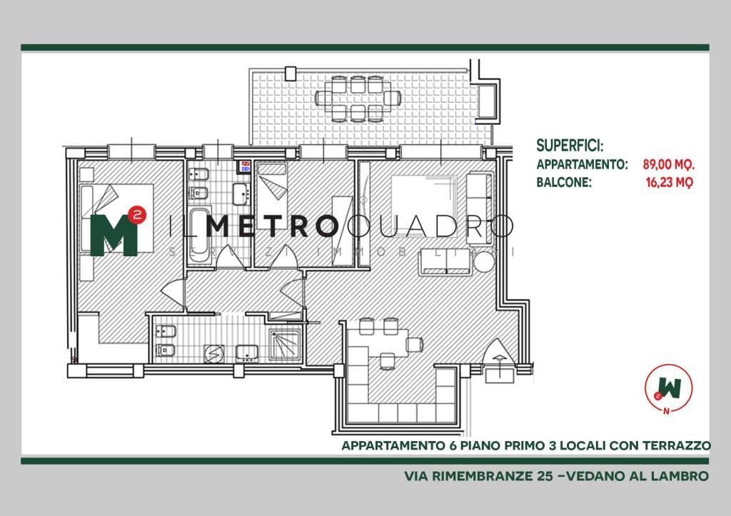 Appartamento in vendita a Vedano al Lambro, 3 locali, prezzo € 320.368 | CambioCasa.it