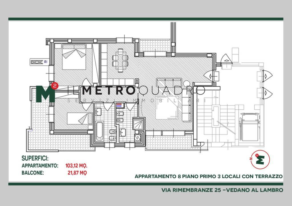 Appartamento in vendita a Vedano al Lambro, 3 locali, prezzo € 374.576 | CambioCasa.it