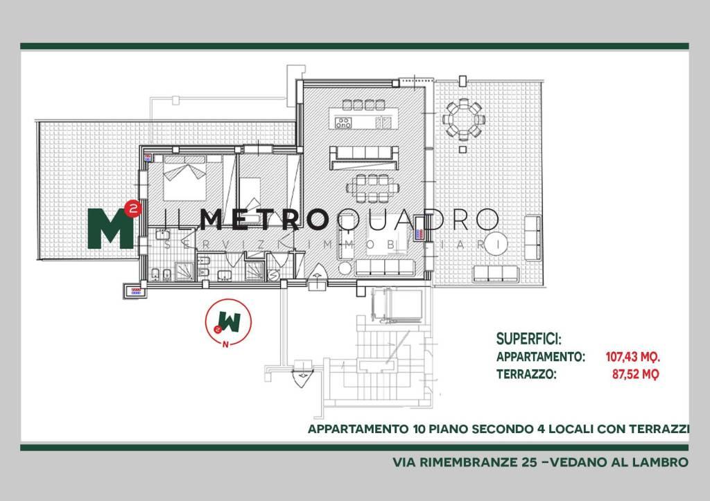 Appartamento in vendita a Vedano al Lambro, 3 locali, prezzo € 539.665 | CambioCasa.it