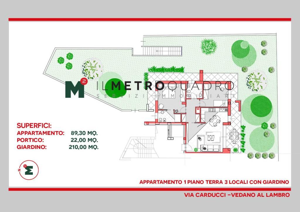 Appartamento in vendita a Vedano al Lambro, 3 locali, prezzo € 362.080 | CambioCasa.it