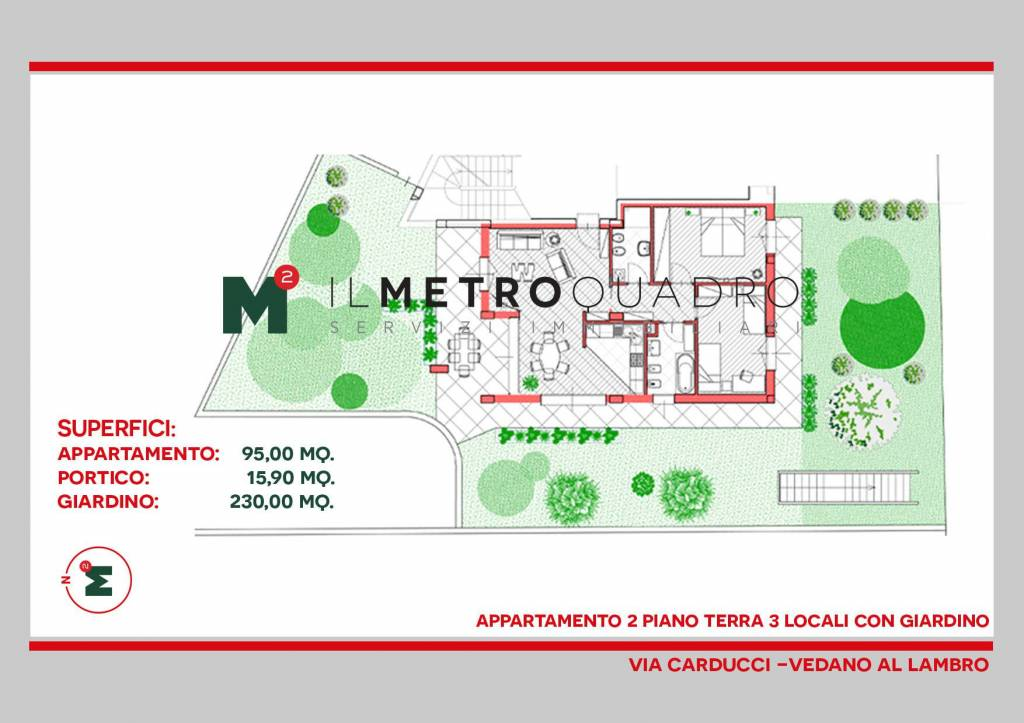 Appartamento in vendita a Vedano al Lambro, 3 locali, prezzo € 382.385 | CambioCasa.it