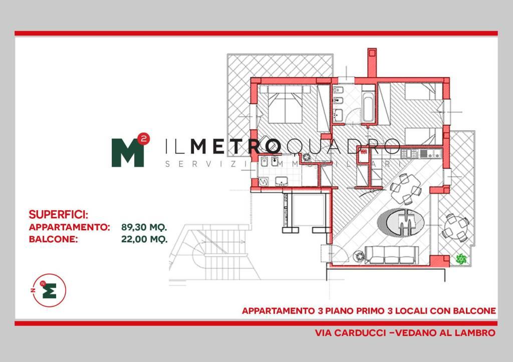 Appartamento in vendita a Vedano al Lambro, 3 locali, prezzo € 325.760 | CambioCasa.it
