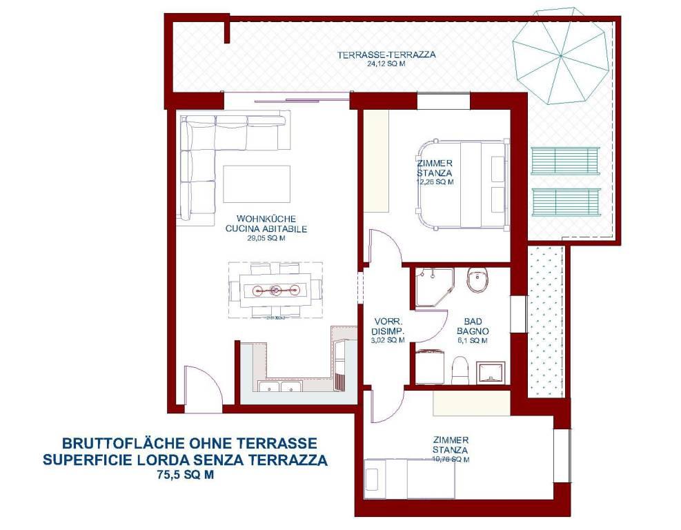 Attico / Mansarda in vendita a Bolzano, 3 locali, prezzo € 430.000 | PortaleAgenzieImmobiliari.it