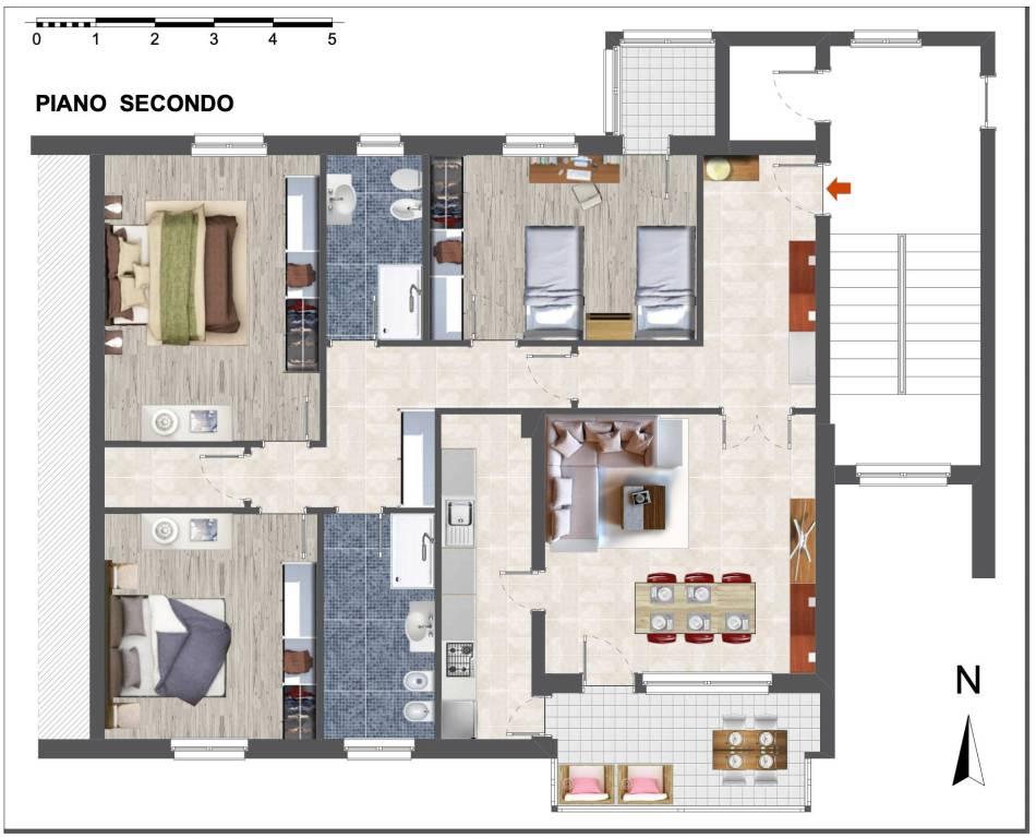 Appartamento in Vendita a Castenaso Centro: 5 locali, 144 mq